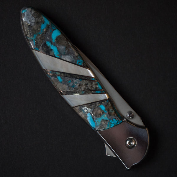 "Santa Fe Stoneworks Ithaca Turquoise Kershaw Knife 4"" at The Lodge"