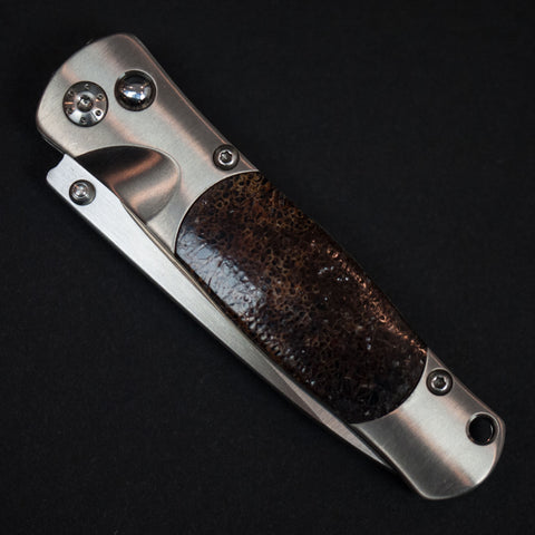 Santa Fe Stoneworks Woolly Mammoth Bone Titanium Knife at The Lodge