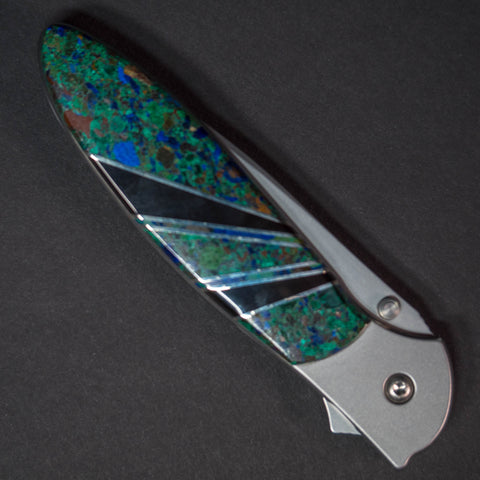 Santa Fe Stoneworks Azurite Kershaw Pocket Knife at The Lodge Man Shop