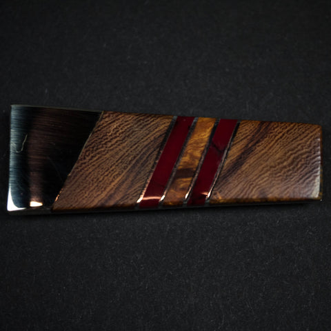 ARIZONA IRONWOOD MONEY CLIP - RED - THE LODGE  - 1