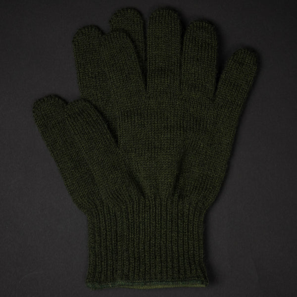 SAUGERTIES OLIVE WOOL GLOVES