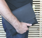 BLACK LEATHER PORTFOLIO IPAD CASE - THE LODGE