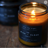 The Rich + Clean Into the Night Soy Wax Candle at The Lodge