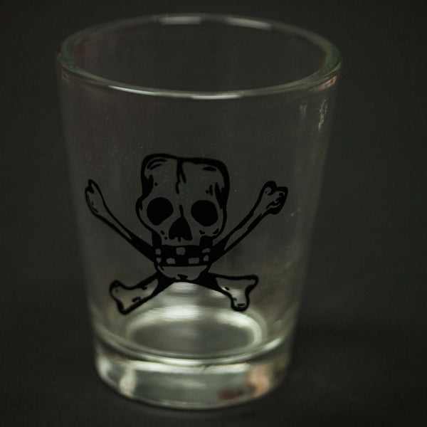 SKULL AND CROSSBONES SHOT GLASS - THE LODGE  - 1