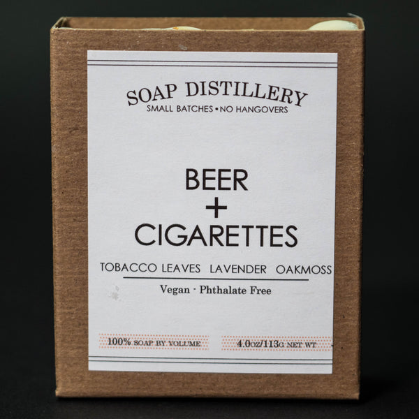 Soap Distillery Beer & Cigarettes Soap at The Lodge