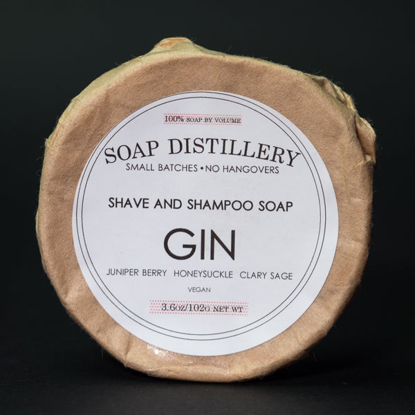 Soap Distillery Gin Shave Soap at The Lodge