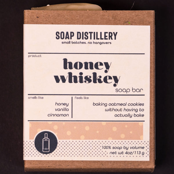 Soap Distillery Honey Whiskey body soap at The Lodge