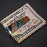 GREEN SPALTED BEECH MONEY CLIP
