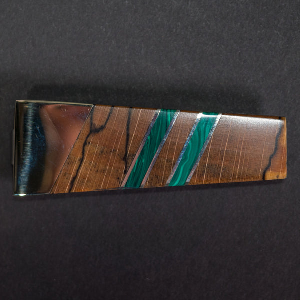 Santa Fe Stoneworks Spalted Beech Money Clip Green at The Lodge Man Shop