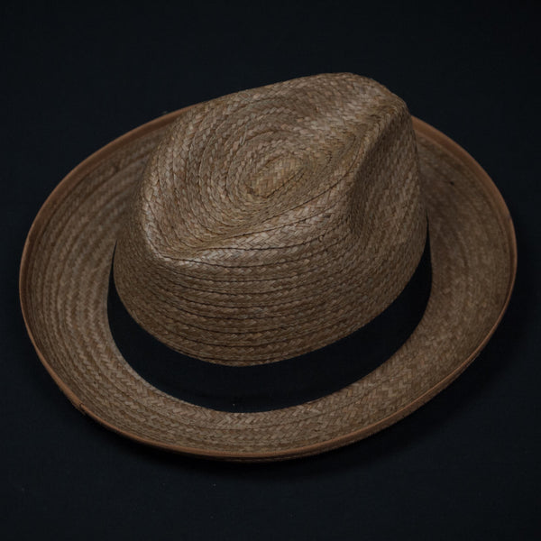 STRAW FEDORA HAT COCONUT - THE LODGE  - 1