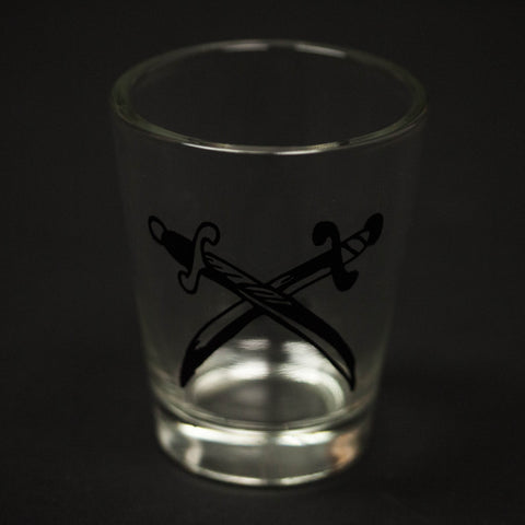 SWORDS SHOT GLASS - THE LODGE  - 1