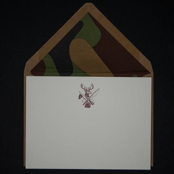 HUNTING NOTE CARDS W/CAMO 6 PACK - THE LODGE  - 1