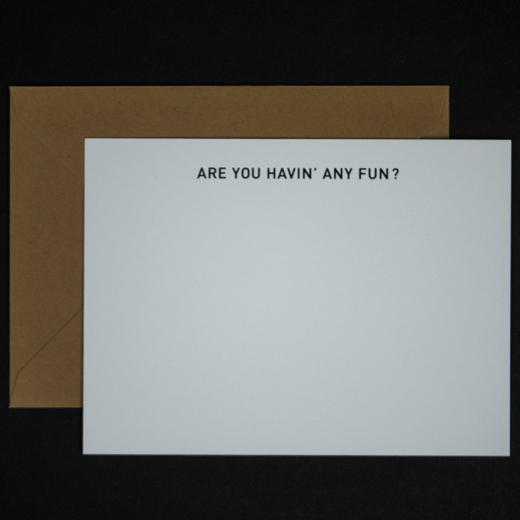 ARE YOU HAVING ANY FUN NOTE CARDS 6 PACK
