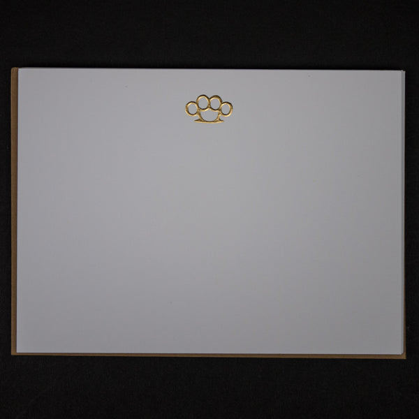 Terrapin Stationers Brass Knuckles Notecards at The Lodge