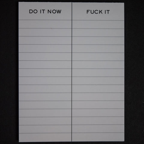 Terrapin Stationers Fuck It/ Do It Now Notepad at The Lodge
