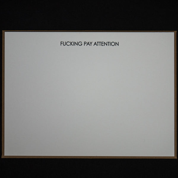 FUCKING PAY ATTENTION NOTE CARDS 6 PACK - THE LODGE