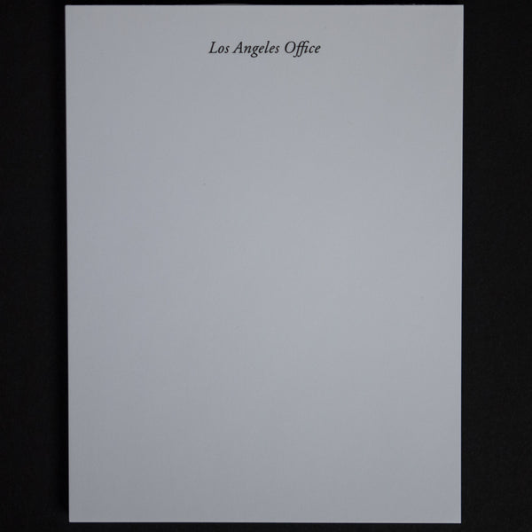 Terrapin Los Angeles Office Notepad at The Lodge