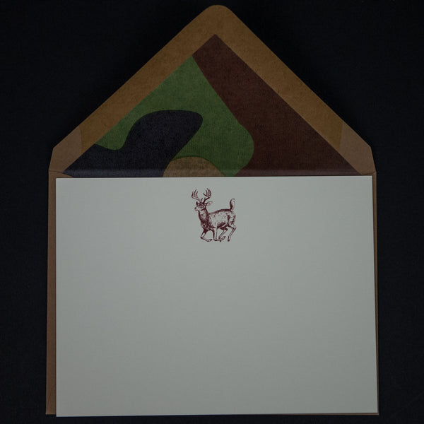 Terrapin Stationers Stag Notecard Set with Camo at The Lodge