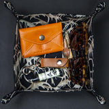 ANTLER PRINT BLACK LEATHER MANTRAY™ VALET TRAY