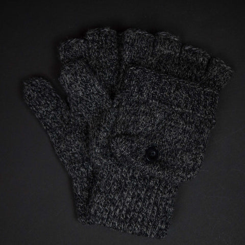 The Lodge Garrison Black Heather Wool Glitten Gloves