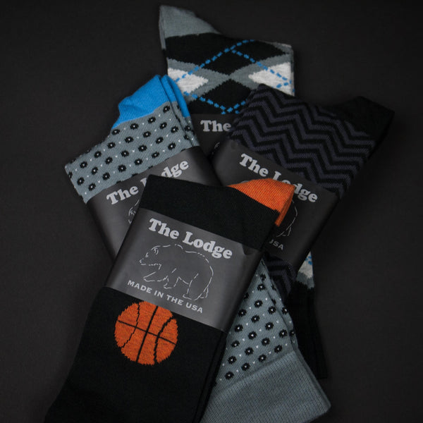 The Lodge Courtside Socks 4-pack