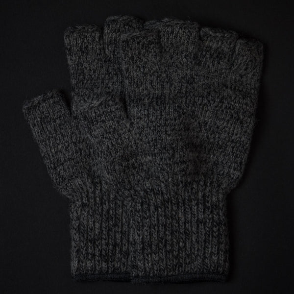 ATHENS CHARCOAL WOOL FINGERLESS GLOVES