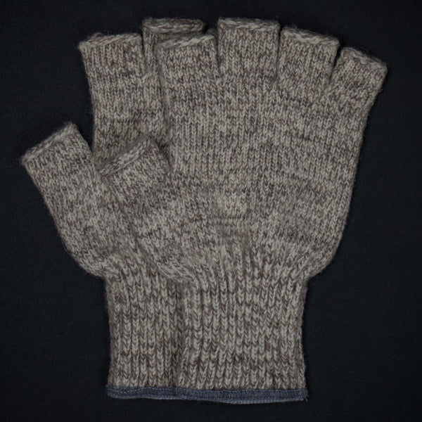 ATHENS OATMEAL WOOL FINGERLESS GLOVES