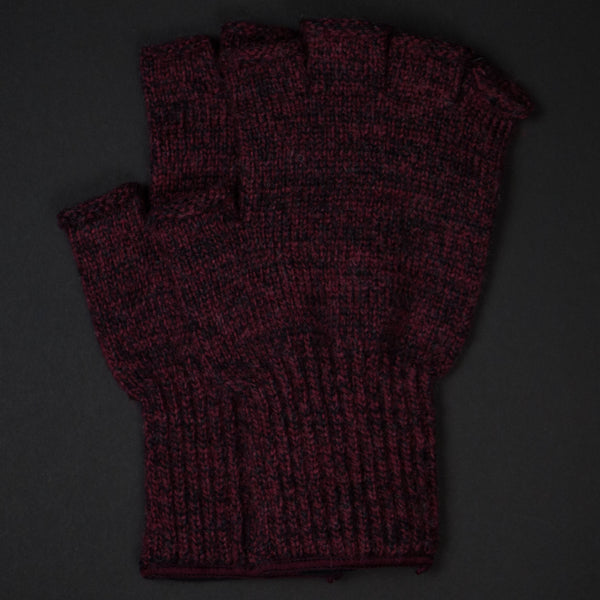 ATHENS RED WOOL FINGERLESS GLOVES