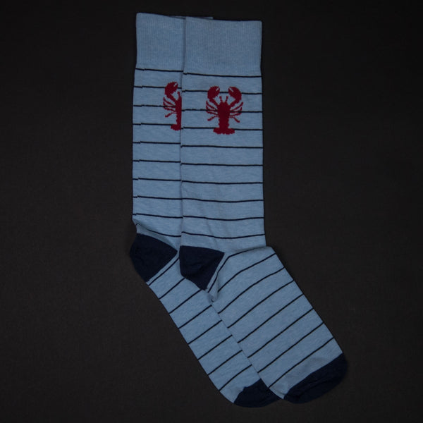 The Lodge Casco Light Blue Lobster Socks