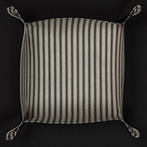 The Lodge ManTray™ Black Ticking Stripe