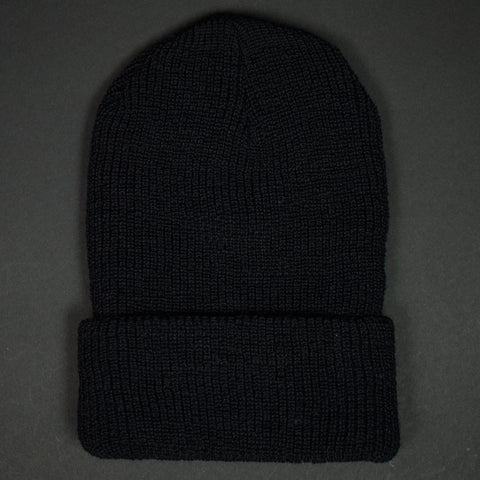 The Lodge Knit Mariner Wool Hat Black