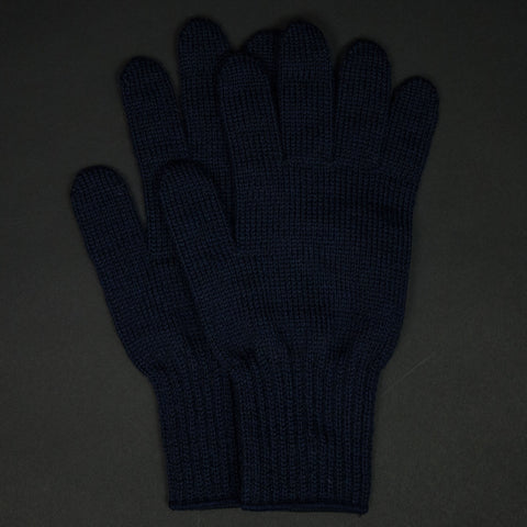 The Lodge Saugerties Navy Wool Gloves at The Lodge