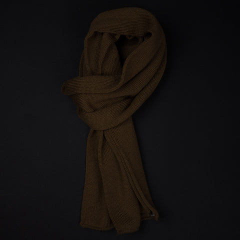 The Lodge Tan Wool Military Spec Scarf