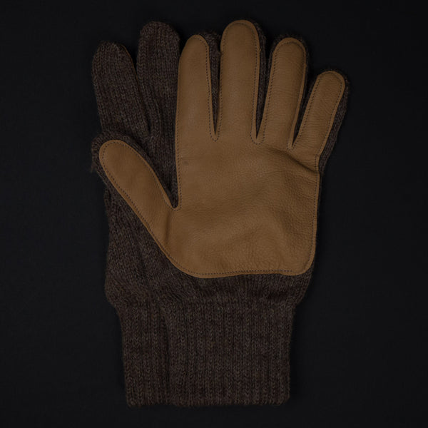 Brown Cold Spring Wool Gloves w/Deerskin Palm at The Lodge