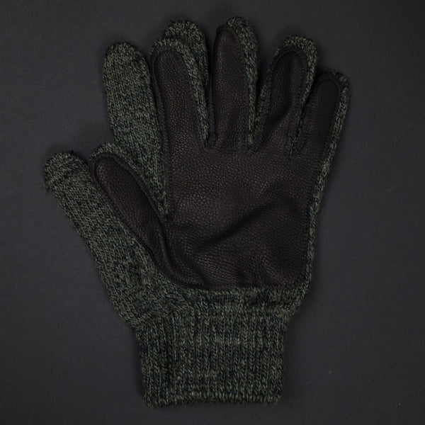 Olive Cold Spring Wool Gloves with Deerskin Palm at The Lodge