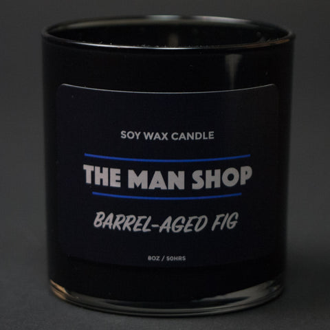 The Man Shop Barrel-Aged Fig Soy Wax Candle at The Lodge