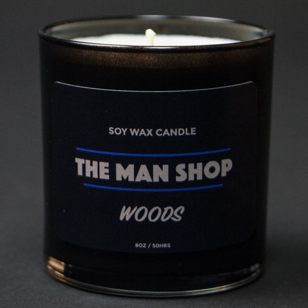 The Man Shop Woods Soy Wax Candle at The Lodge