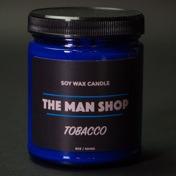 The Man Shop Tobacco Soy Wax Candle at The Lodge