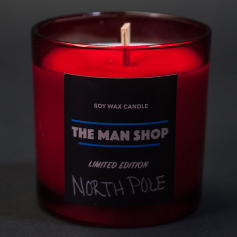 The Man Shop North Pole Holiday Candle at The Lodge