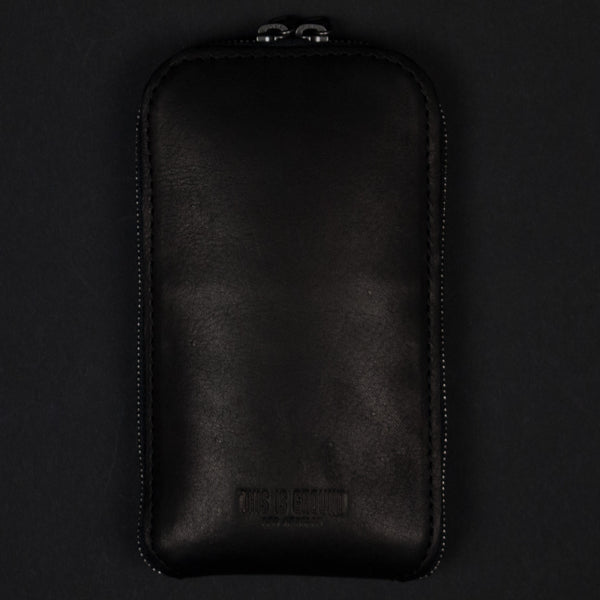 STASH BLACK LEATHER IPHONE WALLET 6/6PLUS - THE LODGE  - 1