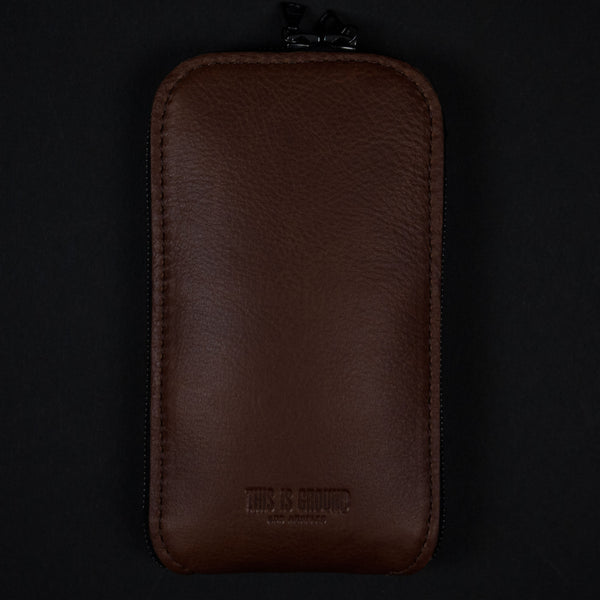STASH COGNAC LEATHER IPHONE CASE 6/6PLUS - THE LODGE  - 1