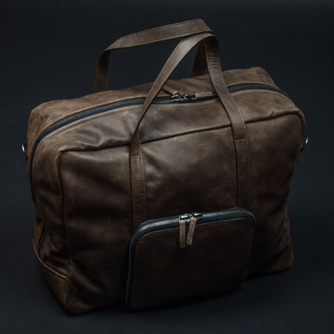 This Is Ground Voyager Weekender Duffel Bomber Leather at The Lodge