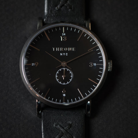 Throne 1.0 36mm Watch Black/Black at The Lodge