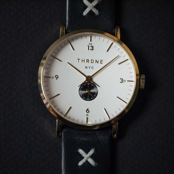 Throne 1.0 Fragment Watch White/Gold/Black at The Lodge