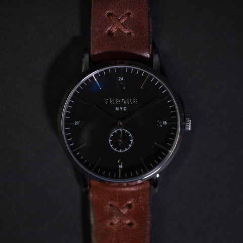 Throne 1.0 36mm Watch Black/Maple at The Lodge