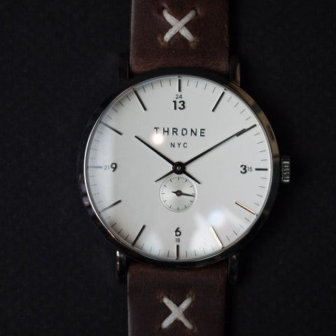 THRONE MASSES 1.0 AMERICAN MADE WATCH WHITE/COGNAC