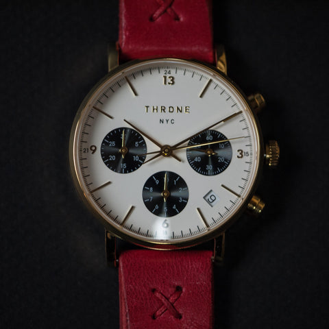 Throne Fragment Watch 2.0 White/Gold/Red at The Lodge