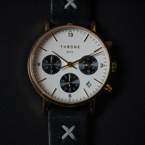 THRONE FRAGMENT 2.0 AMERICAN MADE WATCH WHITE/BLACK