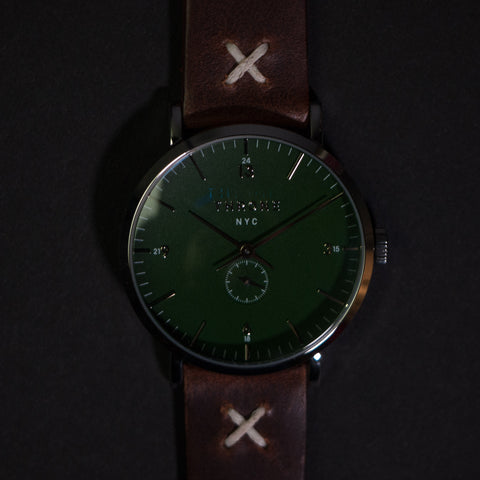 Throne 1.0 Gather Green with Cognac Men's Watch at The Lodge
