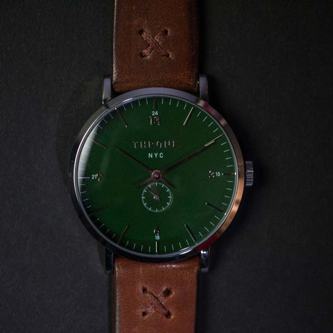 Throne Gather 1.0 Green Men's Watch with Maple Strap at The Lodge